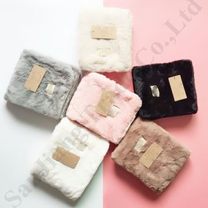 Wholesale Australia UG Fuzzy Scarf Brand Designer Scarves Velvet Warm Neckerchief Girls Wrap Neck Ring Scarf Outdoor Skiing Fleece Fur Scarf C91008