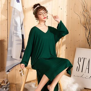 Wholesale 3xl xl Sleepwear Women Plus Size Sleep Dress Women Sleeping Clothes Long Nightgown