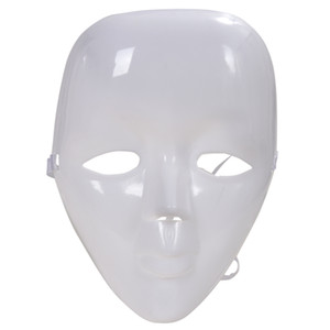 Wholesale Plastic Blank White Full Face Female Mask for Costume Party Prom
