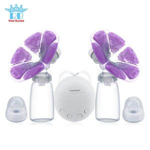 Wholesale Real Bubee Single Double Electric Pump Infant Nipple Baby Feeding Bottle Usb Breast Pumps For Mother Q190529