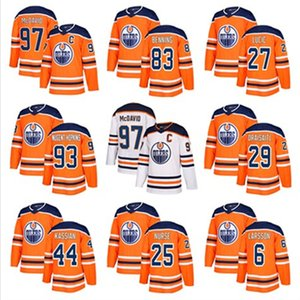 Wholesale Men Edmonton Oilers Hockey Jersey 97 Connor McDavid 27 Milan Lucic 29 Leon Draisaitl 99 Wayne Gretzky Hockey Jerseys