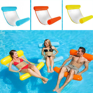 Wholesale Water Hammock Recliner Inflatable Floating Bed Swimming Pool Floating Swimming Mattress Sea Swimming Sofa Air Pump VT0049