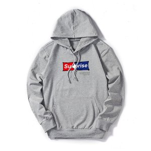 Wholesale Autumn New Men s Hoodies Designer Pullover Hoodies with Suprise Print Thin Cotton Blend Clothing for Women Black White Red Blue Gray M XL