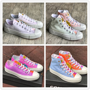Wholesale Chinatown Market Conver Chuck Canvas Shoes Low Top Light Change UV discoloration Skateboard Sneakers Casual Shoes Mens Womens
