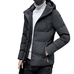 Wholesale Mens Winter Windproof Puffer Hooded Jacket Plus Size Men Cotton Padded Warm Parkas Slim Snow Wear Coat for Men Red Blue Black
