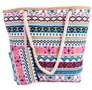 Wholesale New Beach Bags Colorful Printing Female Canvas Bag Shoulder Bag Korean Wild Large Capacity Simple Wild Totes with coin purses