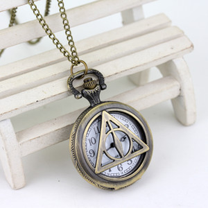 Wholesale watch snitch for sale - Group buy Top Luxury Smooth Golden Snitch Ball Quartz Pocket Watch Deathly Hallows Antique Pocket Watch Necklace