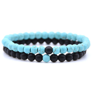 Wholesale Two sets of distance bracelet natural stone beads relationship couple jewelry Valentine s Day birthday men and women bracelet