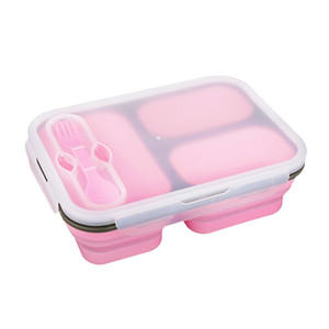 Wholesale lunch box adults resale online - Silicone Bento Lunch Box for Kids Adults with Compartments Silicone Lunch Box Collapsible Container Microwave Freezer Dishwasher Safe FH15