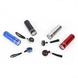 Wholesale 9 LED Aluminum Alloy Strong Light Long Range LED Mini Flashlight Creative Outdoor Riding Night Riding Flashlight