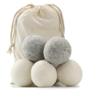 Wholesale 2019 Wool Dryer Balls Premium Reusable Natural Fabric Softener inch cm Static Reduces Helps Dry Clothes in Laundry Quicker