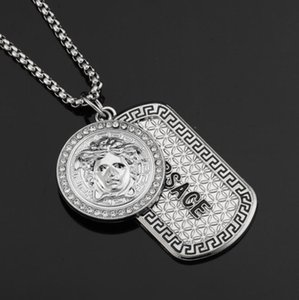 Wholesale Mens Hip Hop Designer Jewelry Iced Out Silvery Plated Fashion Bling Bling Lion Head Pendant Men Necklace