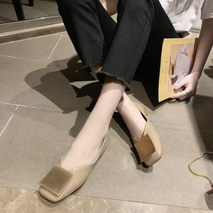 Wholesale Classics Women Pumps Spring Summer New Mules Fashion Round Toe Dress Shoes Casual Loafers Low Heel Lolita Women Shoes