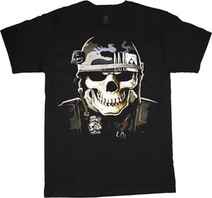 Wholesale Military decal t shirt men helmet usmc marine corps tee Casual men t shirt