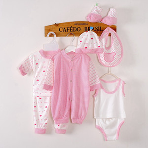 Wholesale 1-3Month baby girl clothing sets fashion cotton tracksuit spring autumn kids girl Unisex cotton Clothing Set