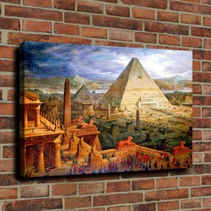 Wholesale ancient paintings art resale online - Ancient Egyptian Pyramids Canvas Wall Art Oil Painting Picture On Canvas Home Decor