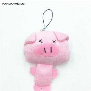 HANDANWEIRAN 1Pcs Super Cute 10CM Kawaii Pearl Pig Stuffed Plush Toys Lovely Pig Pendants Plush Toy Valentine Gifts PP Cotton