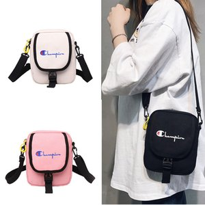 Wholesale Women Champions Print Mini Messenger Bag Cute Makeup Purse Sports Travel Adjustable Belt Waist Bag Protable Canvas Shoulder Handbags C426