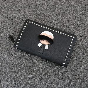 Wholesale magazines holder for sale - Group buy Hot sell high quality little Monster men s magazine article cow leather wallet Lafayette zipper wallet clutch leather wallet women fashion