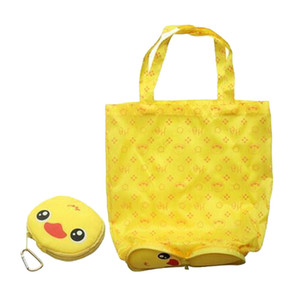 Wholesale xiniu Cute Animal Shape Folding Shopping Bag Eco Friendly Ladies Gift Foldable Reusable Tote Portable Travel Shoulder Bag