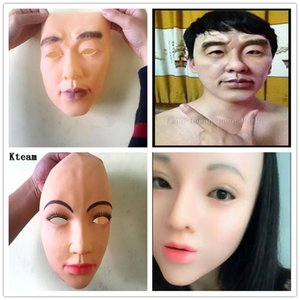 Wholesale Hot Fun New Realistic Human Skin Disguise Self Masks halloween latex realista maske silicone sunscreen ealistic silicone female real Mask