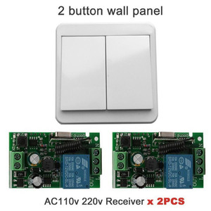 Wholesale 20pcs MHz Wireless Remote control switch AC V V Relay Receiver Module and Wall Switch Transmitter