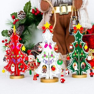 Wholesale New Innovative Double Inserts Christmas Tree Patchwork Christmas Tree Toy Desktop Decoration DIY Ornaments
