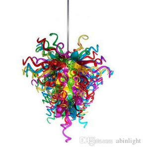 Multi Color Handmade Blown Glass Chandelier Light Home Decoration LED Light Source Murano Glass Chain Chandelier