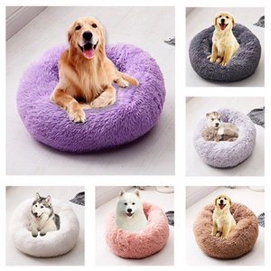 Pet Mats Dog Round Cat Winter Warm Sleeping Bag Long Plush Soft Pet Bed Calming Bed Indoor Round Pillow Sleeping Pad on Sale