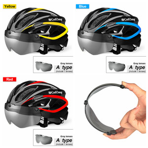 Wholesale Bicycle Helmet EPS Insect Net Road MTB Bike Windproof Lenses Integrally molded Helmet Cycling Casco Ciclismo ZZA127