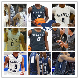 Wholesale Custom Sierra Canyon High School Jerseys Basketball Bronny James Zaire Wade Terren Frank Dylan White Jake Miller Metoyer Boston Jr Men Youth