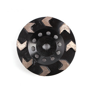 Wholesale flooring polish resale online - 3 Pieces Inch Metal Bond Diamond Grinding Cup Wheel with Eight Arrow Segments Diamond Polishing Pads for Concrete and Terrazzo Floor