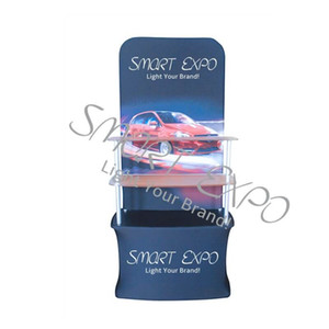 Trade Fair Display Rack with HDF Top-Bottom Boards Thick Aluminum Tube Tension Fabric Printed Graphic Portable Carry Bag
