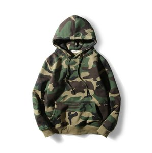 Wholesale 2019 New Autumn Winter Gray Mens Hoodie Skateboard Sweartshirt Pullover brand clothing tracksuit men Camouflage Black Hip Hop Hoodie