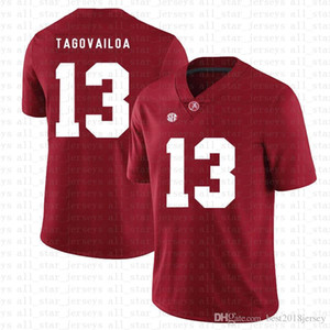 Wholesale red american football jerseys resale online - Alabama Crimson Tide Tua Tagovailoa American football Jersey Tom Brady Saquon Barkley Nick Bosa Jerseys red