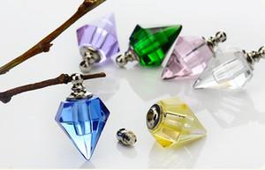 50pcs 14x19mm screw cap vial pendant Miniature Perfume bottle Essential oil name or rice art necklace jewelry pendant DIY