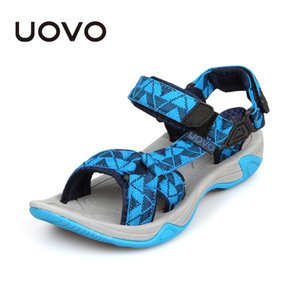 Uovo 2019 Kids Sandals Open Toe Boys Sandals Textile Children Sandals Light-weight Sole Little Boys Summer Shoes Size 28#-35# Y190525 on Sale
