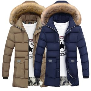 Wholesale Thicken Warm Winter Duck Down Jacket for Men Fur Collar Parkas Hooded Coat Plus Size Overcoat Western Style