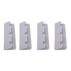 4Pieces Durable Inflatable Boat Rib Dinghy Kayak Seat Hook Clip Brackets Marine Gray Boat Seat Hook Clip