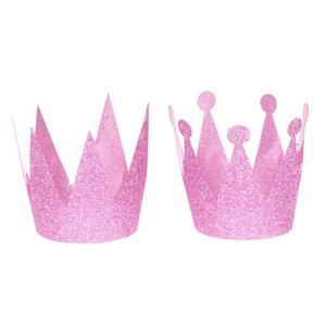 Wholesale Glitter Birthday Crown Hats Party Hats Princess Prince Crowns for Kids and Adults Party Decorations