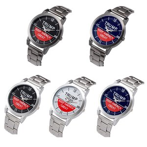 Donald Trump 2020 Watches Men's Quartz Wristwatch Keep America Great Letter Classic Watch with Metal Strap