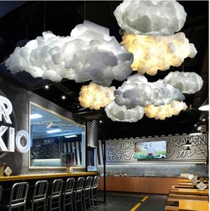 Wholesale in stock Modern White Floating Cloud Pendant Light for Bedroom Living Room Cloth Store Restaurant Indoor Lighting Decor E27 Chandeliers