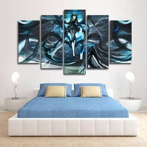 Wholesale Only Canvas No Frame Black Rock Shooter Theme Japanese Girls Anime Wall Art HD Print Canvas Painting Fashion Hanging Pictures