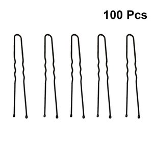 Wholesale 100pcs Hair Pin Decorative U shaped Metal Headdress Hairpins Hair Clips Bobby Pin for Ladies Girls Women