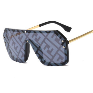 Wholesale Fashion new Fendi hot men s and women s sunshade big box vintage letter sunglasses