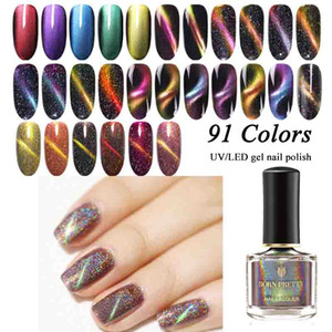 BORN PRETTY 6ml Holographic Glitter 3D Cat Eye Nail Polish Magnetic Aurora Series 6ml Varnish Magnet Soak Off Nail Art Lacquer on Sale