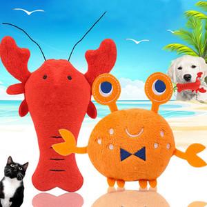 Popular Plush Pet Dog Toy Funny Pet Fleece Durability Sound Crayfish Crab dog Cat toys pet Supplies
