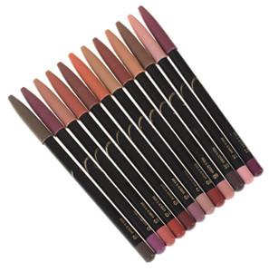 12 Colors Lip Pencils Matte Lipliner Pencil Waterproof Makeup Lips Matte Lipstick Lip Liner Pen Smooth Nude Cosmetics