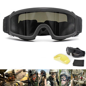 Wholesale tactical lenses for sale - Group buy Tactical Goggles Shooting Glasses GX1000 Black Lens Motorcycle Windproof Wargame Sunglasses