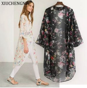 Wholesale Mujer Cover Up Boho Long Sunshade Print Cover Up for Women Beach Fashion Shawl Swimwear Dress Plus Size Cheap Vestido Swim